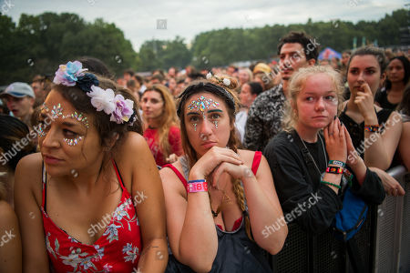 Festival-goers watch the presentation of British primatologist Dr. Jane Goodall, founder of the Jane Goodall Institute and UN Messenger of Peace, at the 27th Sziget (Island) Festival on Shipyard Island, Northern Budapest, Hungary, 08 August 2019. The festival is one of the biggest cultural events of Europe offering art exhibitions, theatrical and circus performances and above all music concerts in seven days.
