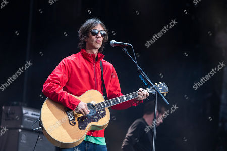 Stock Image of English singer and songwriter Richard Ashcroft performs at the 27th Sziget (Island) Festival on Shipyard Island, Northern Budapest, Hungary, 08 August 2019. The festival is one of the biggest cultural events of Europe offering art exhibitions, theatrical and circus performances and above all music concerts in seven days.