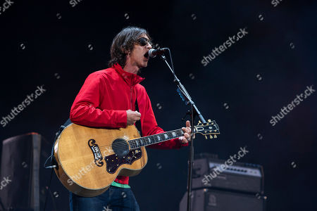 Stock Photo of English singer and songwriter Richard Ashcroft performs at the 27th Sziget (Island) Festival on Shipyard Island, Northern Budapest, Hungary, 08 August 2019. The festival is one of the biggest cultural events of Europe offering art exhibitions, theatrical and circus performances and above all music concerts in seven days.