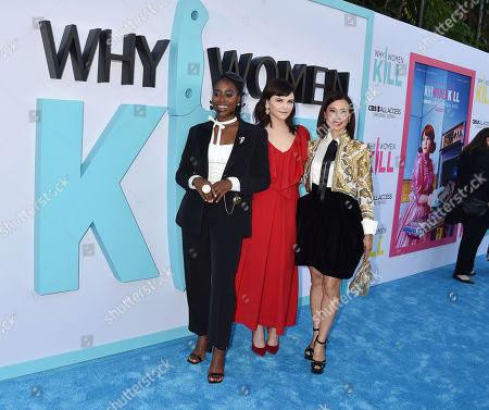 Kirby Howell-Baptiste, Ginnifer Goodwin and Lucy Liu