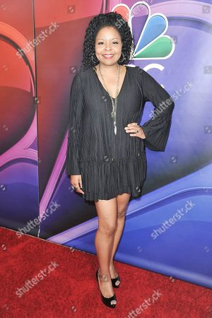 Stock Photo of Tymberlee Hill attends the NBC red carpet event during the Television Critics Association Summer Press Tour, in Beverly Hills, Calif
