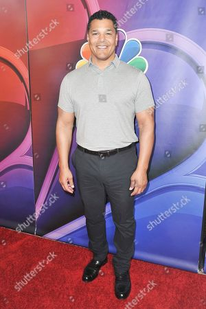 Geno Segers attends the NBC red carpet event during the Television Critics Association Summer Press Tour, in Beverly Hills, Calif