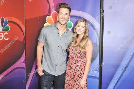 Stock Photo of Jordan Rodgers, JoJo Fletcher. Jordan Rodgers, left, and JoJo Fletcher attend the NBC red carpet event during the Television Critics Association Summer Press Tour, in Beverly Hills, Calif