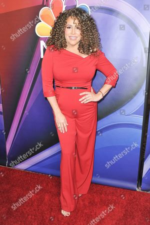 Diana Maria Riva attends the NBC red carpet event during the Television Critics Association Summer Press Tour, in Beverly Hills, Calif