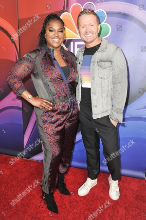 Ester Dean, Shane Mcanally. Ester Dean, left, and Shane Mcanally attend the NBC red carpet event during the Television Critics Association Summer Press Tour, in Beverly Hills, Calif