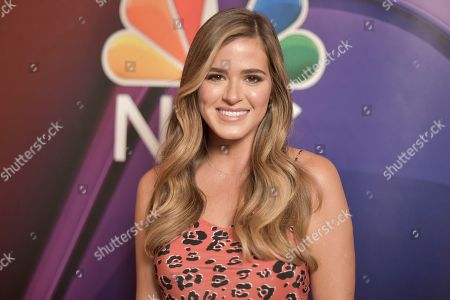 JoJo Fletcher attends the NBC red carpet event during the Television Critics Association Summer Press Tour, in Beverly Hills, Calif