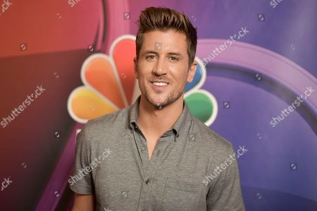 Jordan Rodgers attends the NBC red carpet event during the Television Critics Association Summer Press Tour, in Beverly Hills, Calif