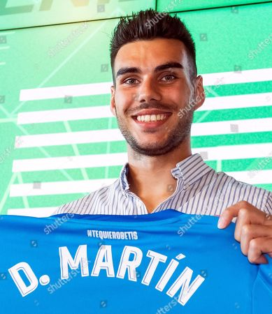 Real Betis' new Spanish goalkeeper Dani Martin poses for photographers during his presentation as new player of the Spanish La Liga soccer club in Seville, Spain, 08 August 2019.