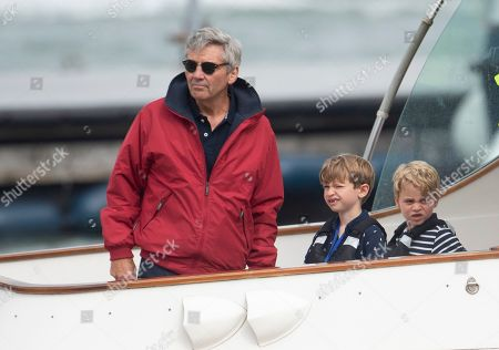 Michael Middleton and Prince George