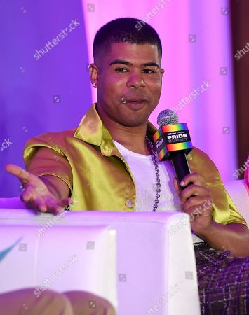 """Stock Image of ILoveMakonnen participates in the """"Queer Headliners 2019"""" panel at Billboard and THR's Pride Summit, in West Hollywood, Calif"""
