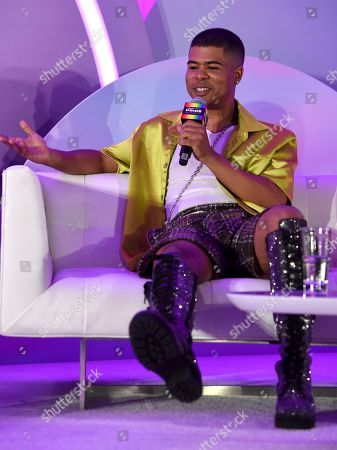 """ILoveMakonnen participates in the """"Queer Headliners 2019"""" panel at Billboard and THR's Pride Summit, in West Hollywood, Calif"""