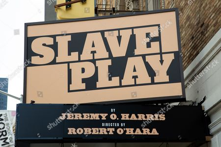 'Slave Play' marquee. Producers Greg Nobile and Jana Shea of Seaview Productions, Troy Carter, Level Forward, and Nine Stories, founded by Jake Gyllenhaal and Riva Marker, have now officially announced that Slave Play, by Jeremy O. Harris, directed by Robert O'Hara, will be coming to Broadway's Golden Theatre this fall. The strictly limited 17-week engagement will begin preview performances Tuesday, September 10, ahead of an official opening night of Sunday, October 6.