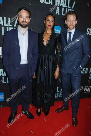 Charlie Cox, Zawe Ashton and Tom Hiddleston