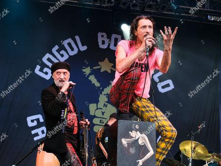 Stock Picture of Gogol Bordello - Sergey Ryabstev and Eugene Hutz