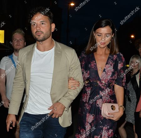 Ryan Thomas and Lucy Mecklenburgh in Mayfair