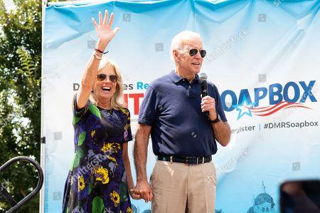 Editorial photo of Joe Biden, US Presidential Election Campaigning, Des Moines, Iowa, USA - 08 Aug 2019