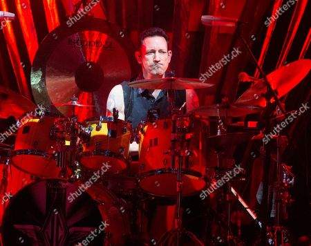 Stock Image of Jimmy Chamberlin of The Smashing Pumpkins performs in concert at the BB&T Pavilion, in Camden, N.J