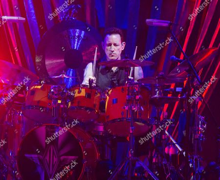 Jimmy Chamberlin of The Smashing Pumpkins performs in concert at the BB&T Pavilion, in Camden, N.J
