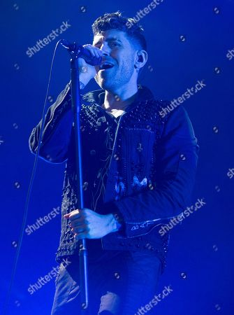 Davey Havok of the band AFI performs in concert as the opening act for The Smashing Pumpkins and Noel Gallagher's High Flying Birds at the BB&T Pavilion, in Camden, N.J