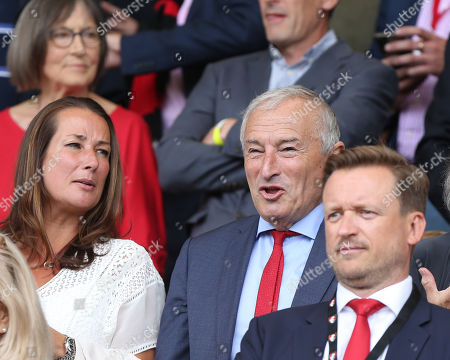 Stock Image of TV Broadcaster and commentator Jim Rosenthal in the stands