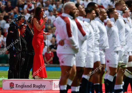 Faryl Smith Soprano singer sings both national anthems