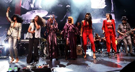 Iris Gold, Beverley Knight, Folami Ankoanda-Thompson, Kimberly Davis, Rahh, Roo Savill and Dave Stewart