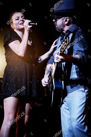 Stock Picture of Kaya Stewart and Dave Stewart