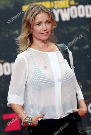Stock Photo of Tina Ruland arrives for the Germany premiere of the movie 'Once Upon A Time in Hollywood' in Berlin, Germany