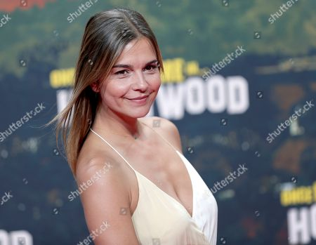 Stock Picture of Susan Hoecke arrives for the Germany premiere of the movie 'Once Upon A Time in Hollywood' in Berlin, Germany