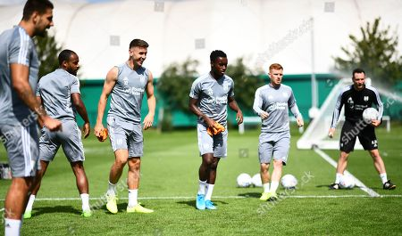 Stock Photo of Tom Cairney, Steven Sessegnon and Harrison Reed of Fulham