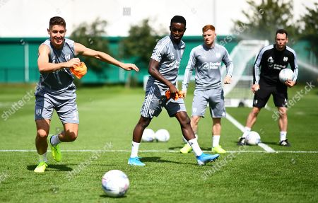 Stock Image of Tom Cairney, Steven Sessegnon and Harrison Reed of Fulham