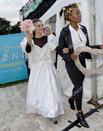 Faye Brookes and Victoria Ekanoye.
