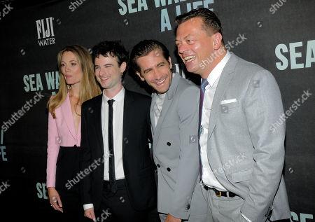 Carrie Cracknell with Tom Sturridge, Jake Gyllenhaal and Simon Stephens