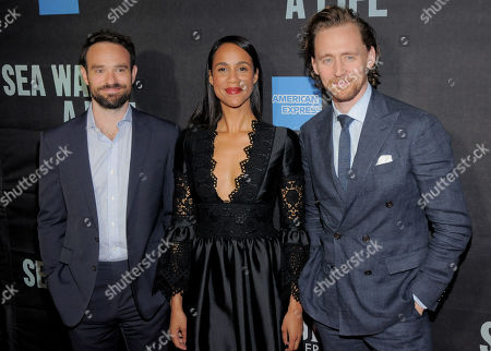 Charlie Cox with Zawe Ashton and Tom Hiddleston