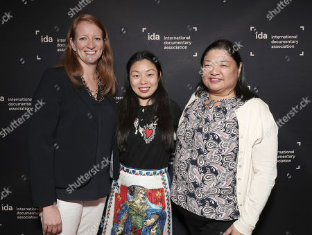 Producer Carolyn Hepburn, Director Nanfu Wang and IDA Director of Programming Claire Aguilar