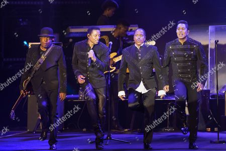 Stock Photo of The Jacksons - Tito Jackson, Jackie Jackson, Marlon Jackson, Jermaine Jackson