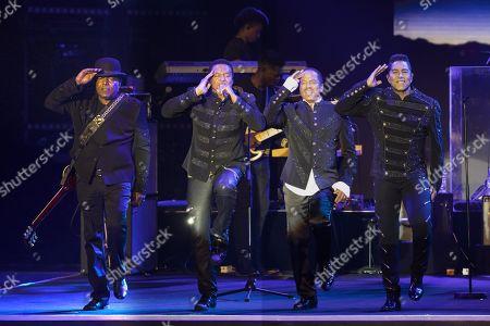 Stock Image of The Jacksons - Tito Jackson, Jackie Jackson, Marlon Jackson, Jermaine Jackson