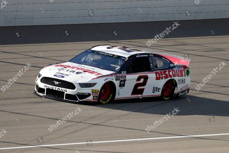 Brad Keselowski qualifies for a NASCAR Cup Series auto race at Michigan International Speedway in Brooklyn, Mich., . Keselowski won the pole position