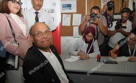 Tunisian former president Moncef Marzouki submits his candidacy