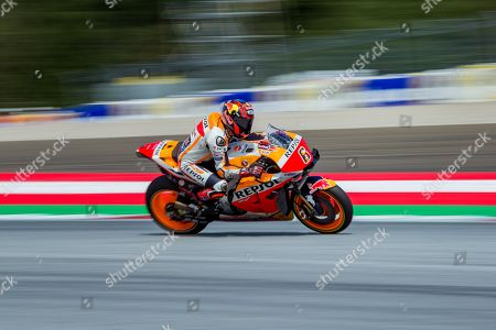 German MotoGP rider Stefan Bradl of Repsol Honda Team in action during the qualifying for the MotoGP of Austria at the Red Bull Ring in Spielberg, Austria, 10 August 2019.