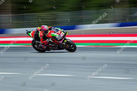 Spanish MotoGP rider Aleix Espargaro of Aprilia Racing Team Gresini in action during the qualifying for the MotoGP of Austria at the Red Bull Ring in Spielberg, Austria, 10 August 2019.