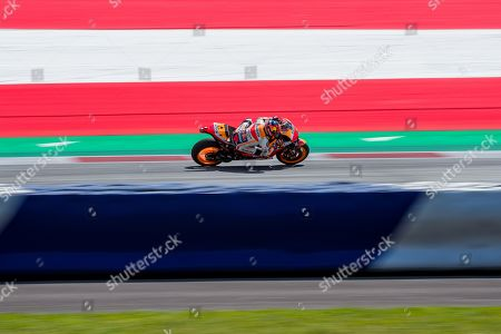 German MotoGP rider Stefan Bradl of Repsol Honda Team during the qualifying for the MotoGP of Austria at the Red Bull Ring in Spielberg, Austria, on August 10, 2019.