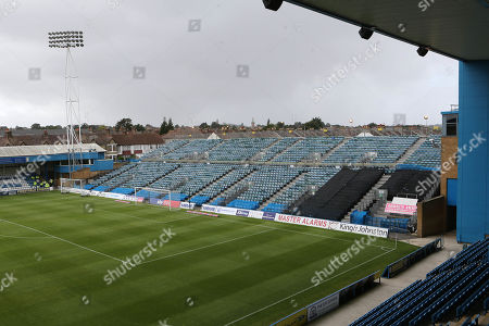 General view of The Brian Moore Stand (Away End) during Gillingham vs Burton Albion, Sky Bet EFL League 1 Football at The Medway Priestfield Stadium on 10th August 2019