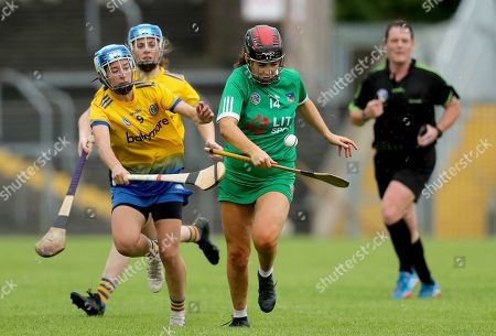 Stock Picture of 10/8/2019. Roscommon vs Limerick. Limerick's Grace Lee with Rachel Fitzmaurice of Roscommon