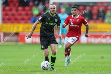 Forest Green Rovers Carl Winchester(7) runs forward during the EFL Sky Bet League 2 match between Walsall and Forest Green Rovers at the Banks's Stadium, Walsall
