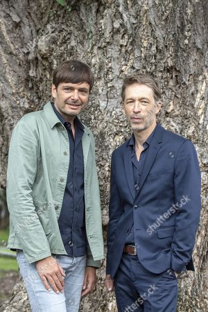 Stock Photo of Ulrich Koehler (L) and Henner Winkler pose during the photocall for the film 'das freiwillige Jahr' at the 72nd Locarno International Film Festival, in Locarno, Switzerland, 10 August 2019. The Festival del film Locarno runs from 07 to 17 August.