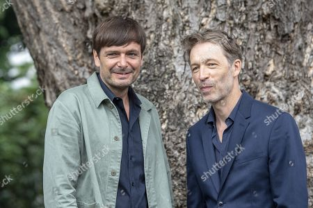 Ulrich Koehler (L) and Henner Winkler pose during the photocall for the film 'das freiwillige Jahr' at the 72nd Locarno International Film Festival, in Locarno, Switzerland, 10 August 2019. The Festival del film Locarno runs from 07 to 17 August.