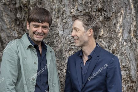 Stock Image of Ulrich Koehler (L) and Henner Winkler pose during the photocall for the film 'das freiwillige Jahr' at the 72nd Locarno International Film Festival, in Locarno, Switzerland, 10 August 2019. The Festival del film Locarno runs from 07 to 17 August.