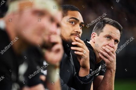 Australia vs New Zealand. New Zealand's Ben Smith looks on during the match