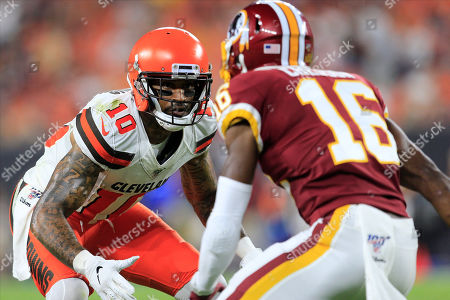 Cleveland Browns wide receiver Jaelen Strong (10) at the NFL Preseason Week 1 football game between the Washington Redskins and the Cleveland Browns at First Energy Stadium in Cleveland, Ohio